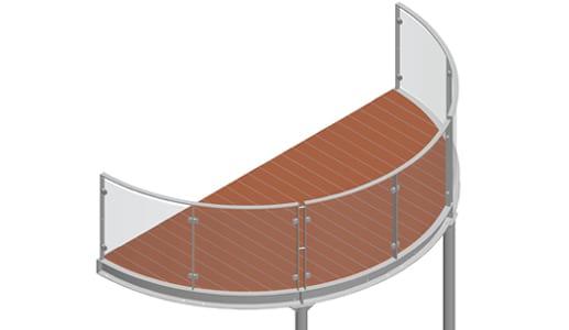 Balkon – model Miami 3