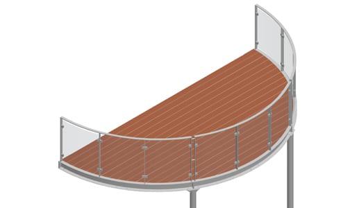 Balkon – model Miami 3-3