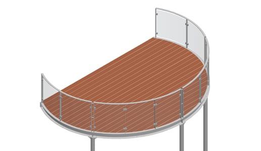 Balkon – model Miami 4-2