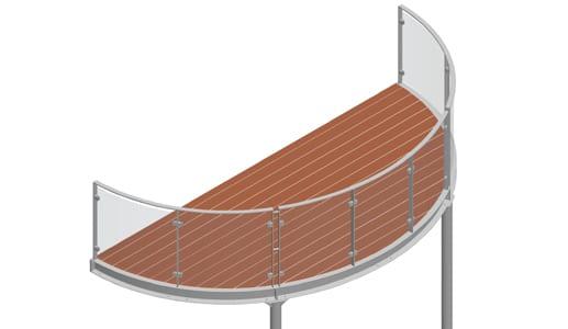 Balkon – model Miami 3-2