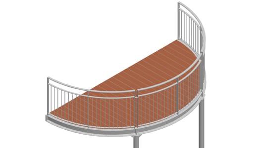 Balkon – model Nevada 3-2
