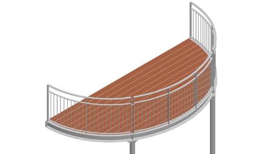 Balkon – model Nevada 3-3