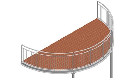 Balkon – model Nevada 3-4