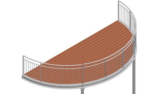 Balkon – model Nevada 3-5
