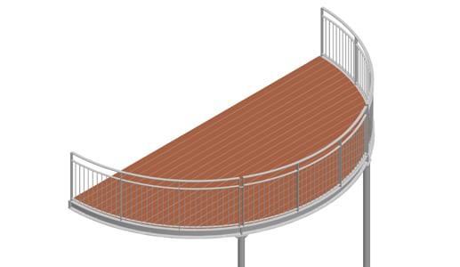Balkon – model Nevada 3-6